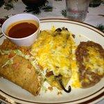 Taco, chile relleno plate
