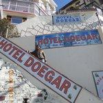 Front of hotel doegar