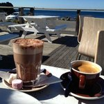Coffee outdoors on a gorgeous Wellington morning