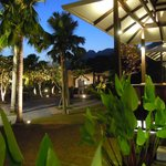 Restaurant outdoor area at night