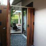 gate from shower area to plunge pool