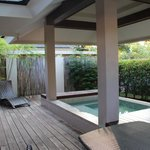 plunge pool at day time