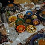 les petites salades et soupe en entrée