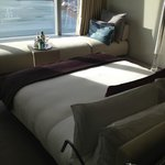 Blick aus dem Bett auf das Meer