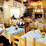 Salle de restaurant pendant l'Hiver