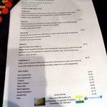 Main course, dessert, sides menu.