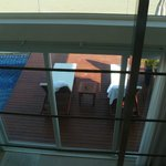 vu de la chambre pool residence