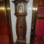 One of several antique Swedish clocks displayed in the hotel