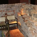 Year 1300 tower wall preserved in place in the hotel restaur