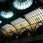 the reception glass roof