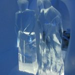 Ice figures in an ice bedroom