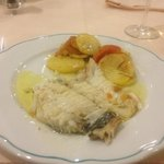 Course 5 - Fish with potato and tomato