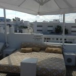 Lounge area rooftop