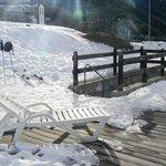 Down to ski and boot room