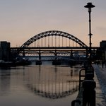 Sunset along the Tyne
