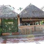 Entrance to indoor/outdoor restaurant