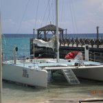 Catamaran to Dunns River Falls thru Scuba Caribe