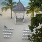 View of wedding gazebo from Suite 1161