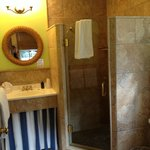 Pinnapple Hideaway Bathroom!  Perfection, and so luxurious!