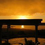 Sunset at Luana Inn - seen from the pool area