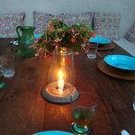 Table in small garden