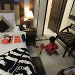 Kid playing in room
