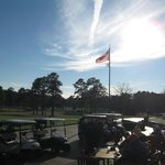 The view from the Pinehurst Golf Club veranda