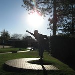 The iconic Payne Stewart sculpture with Donald Ross and Richard Tufts statues