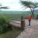 resting area overlooking Serengeti