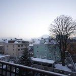 Salzburg early morning just before sunrise.