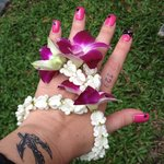 bracelet floral d'arrivée