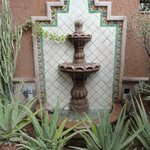 Courtyard fountain at Posada Del Cortes