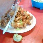 Shrimp tacos (Tacos de Camaron Empanizado) 20pesos