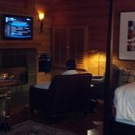 Fireplace & sitting area Big Sur Spa Suite Rm 54