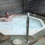 Hut Tub on the deck Big Sur Spa Suite Rm 54