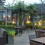 Outdoor patio dining at Ventana Restuarant