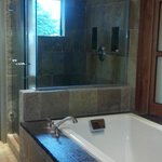 Soaking tub for two & Shower Big Sur Spa Suite Rm 54