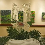 One of our many Ice Sculptures made by our very own John Parrish for Sunday Brunch Buffet!