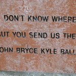 You send us there brick.