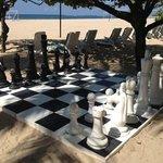 ホテルビーチ内のチェス