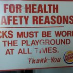 Dirty Health & Safety Sign