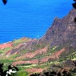 View of Kalalau Valley from Puuo Kila on Kauai, Hawaii