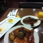 breakfast at the hotel...i burned the bread :(