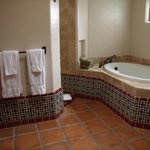 Huge bathroom with lovely tile