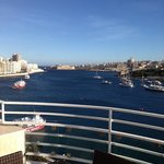 Awesome views of the harbour and Viletta