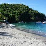 View towards beach bar and scuba centre