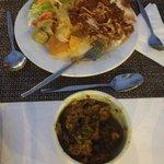 spaghetti bolognese & chicken curry