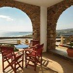 Spacious veranda with view