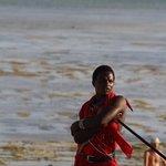 masai con bassa marea