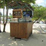 Drinks shack on the beach - help yourself!